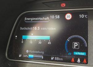 Schwarzwald-Fahrt mit dem Nissan Leaf ZE1 Zero Edition (Modell 2018)