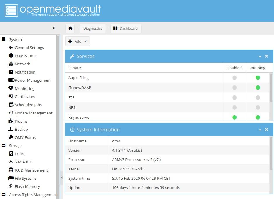 OMV - Open Media Vault