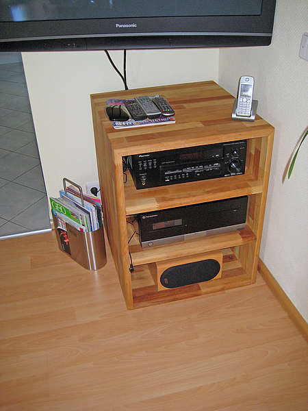 Hifi-Rack aus Holz